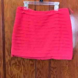 Tinley coral mini skirt